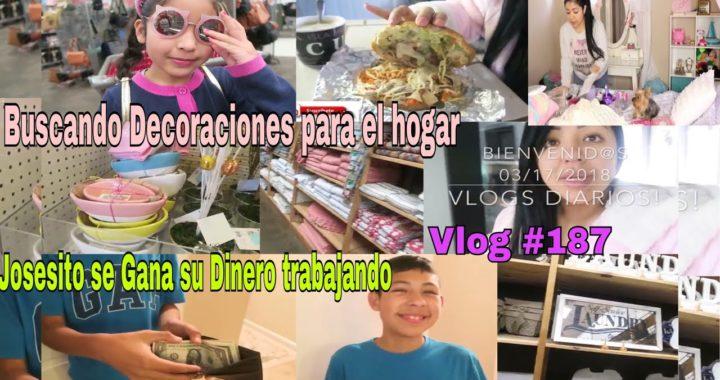 Josesito Gana Dinero Trabajando ! /Buscando Decoraciones para el hogar/limpieza en el cuarto- vlogs
