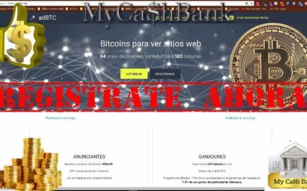 La mejor PTC de Bitcoin| adBTC| Tutorial| como ganar dinero por internet