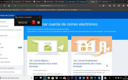 LECCION 21  COMO GANAR  DINERO  CON TU WEB  Crear  correos  en 1and1