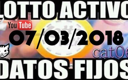 LOTTO ACTIVO DATOS FIJOS PARA GANAR  07/03/2018 cat06