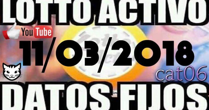 LOTTO ACTIVO DATOS FIJOS PARA GANAR  11/03/2018 cat06