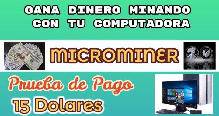 Microminer / Gana dinero minando con tu GPU [Pago 15$]