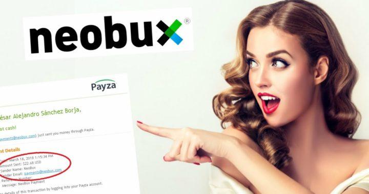 Neobux   PAGO DE 22 DOLARES COBRADOS POR PAYZA   Gana Dinero De Multiples Formas