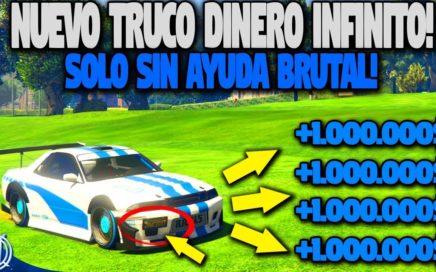 NUEVO TRUCO GTA 5 ONLINE DINERO INFINITO SOLO SIN AYUDA! GTA 5 MONEY GLITCH 1.43