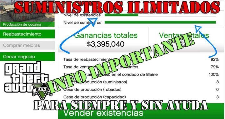 NUEVO TRUCO SUMINISTROS ILIMITADOS !! DINERO INFINITO GTA 5 ONLINE PS4 - PLATA1120