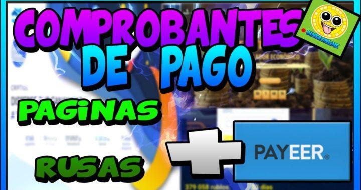 PAGINAS RUSAS PAGANDO |Comprobantes de Pago 2018 |Dinero En Payeer |#2