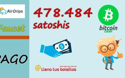 Pago nº 3  AirDrips de 478.484 satoshis BCH | Gana Bitcoin Cash sin límites