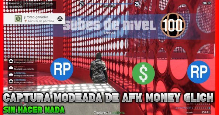 Partidas modeadas de afk money  sube nivel y gana dinero sin hacer nada en gta v online