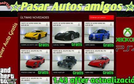*Pasar Autos Amigos* Duplicar Autos Dinero Infinito 100% Funcionando Gta5 online xbox one ps4