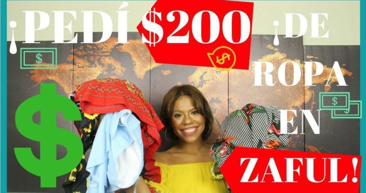 ¡PEDÍ $200 DE ROPA EN ZAFUL!