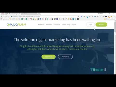 Registrarse en PlugRush para ganar dinero con publicidad