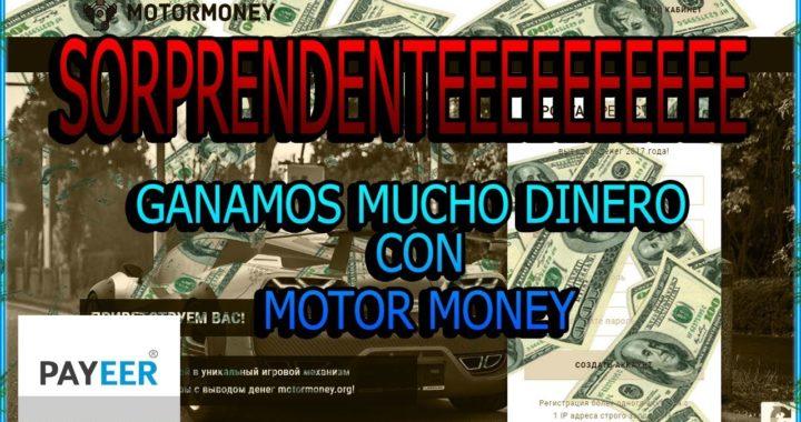 SORPRENDENTE| GANAMOS MUCHO DINERO! CON MOTOR MONEY | SIN INVERTIR +COMPRBANTES DE PAGO
