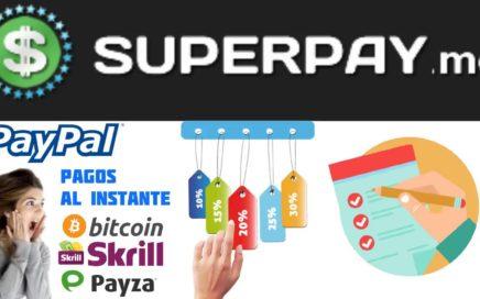 SuperPay.me ¿Como Funciona? / Gana Dinero  para Paypal Bitcoin y Amazon Gift Cards con Encuestas