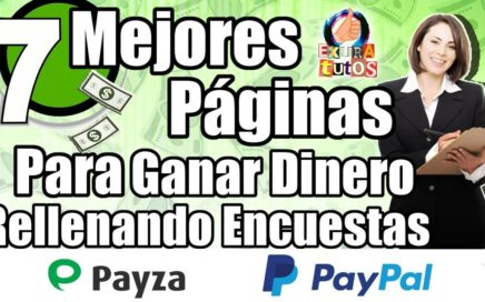 TOP 7 Mejores Paginas Para Ganar Dinero Rellenando Encuestas | Paginas Que Pagan Por Paypal y Payza