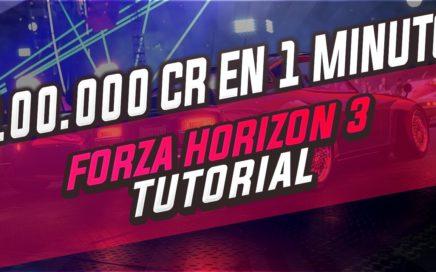 [2018] 100.000CR en 1 MINUTO - Forza Horizon 3