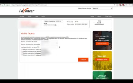 ACTIVA TU TARJETA PAYONEER CON INCRUISES | GANA DINERO VIAJANDO