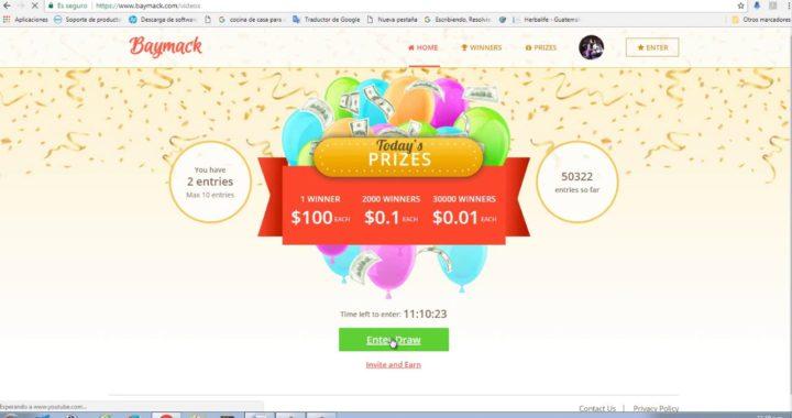 baymack Una pagina para ganar dinero extra en PAYPAL por ver videos