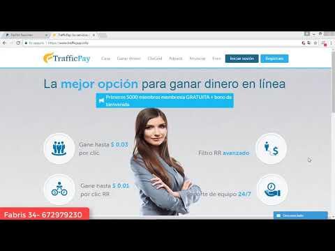 Como ganar 2 dolares diario dinero paypal 2018 - trafficpay