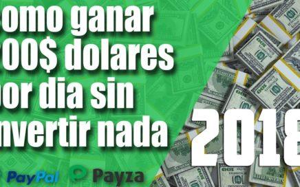 COMO GANAR 200 DOLARES DIARIOS GRATIS POR INTERNET + TRUCO (NUEVO MÉTODO)(ABRIL 2018)(ACTUALIZADO)