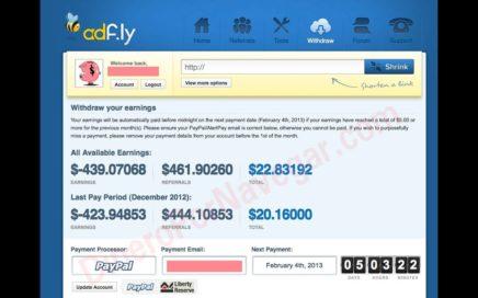 Como GANAR DINERO CON ADFLY  Ganar dinero por Internet en PayPal con enlances