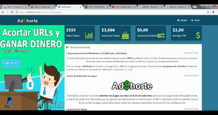 Como Ganar Dinero con Adshorte El acortador de enlace que mejor paga