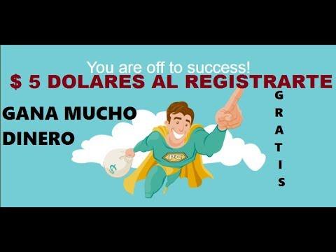 como ganar dinero en internet $ 5 DOLARES DE REGALO  SOLO POR REGISTRARTE