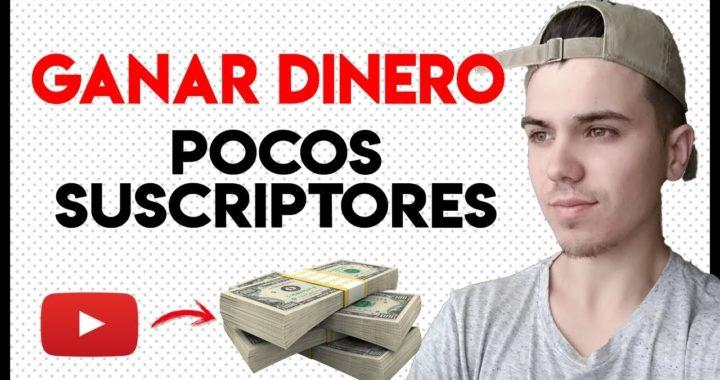 Como Ganar dinero en YOUTUBE con pocos suscriptores - (2018)