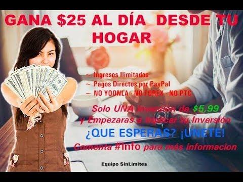 COMO GANAR DINERO POR INTERNET / $15 A $20 DOLARES DIARIOS / SIN LIMITES 2018
