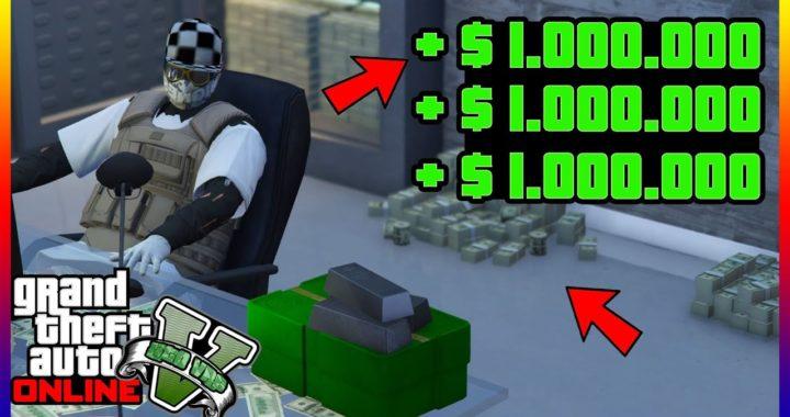 """COMO GANAR DINERO RAPIDO EN """"GTA V ONLINE"""" $1.000.000 CADA 5 MIN SUPER FACIL"""