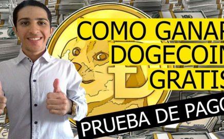 Como Ganar DOGECOIN GRATIS [Prueba de Pago Más de 100 DOGES] Bitcoin Faucet Pagando.