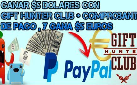 como ganar €5 Euros o $5 Dolares gratis para paypal semanal + recibo de pago comprobado