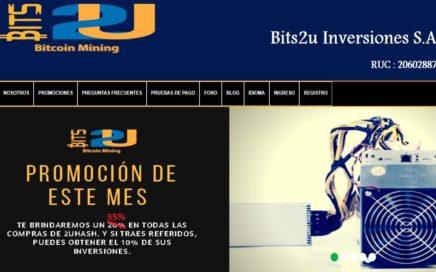 COMPRAR POTENCIA DE MINADO DE BITCOIN CON RUBLOS EN BITS2U 35% EXTRA
