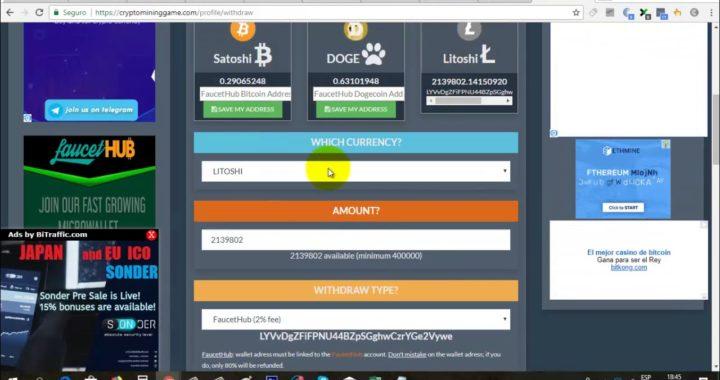 Crypto Mining Game | Cómo Realizar Exchange y Retirar Dinero a Faucet Hub | Gokustian