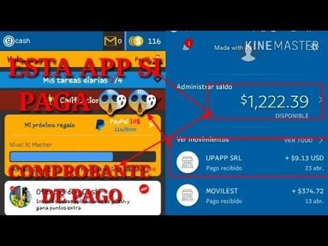 ESTA APP SI PAGA |COMPROBANTE DE PAGO|| GANA DINERO ||PAYPAL|