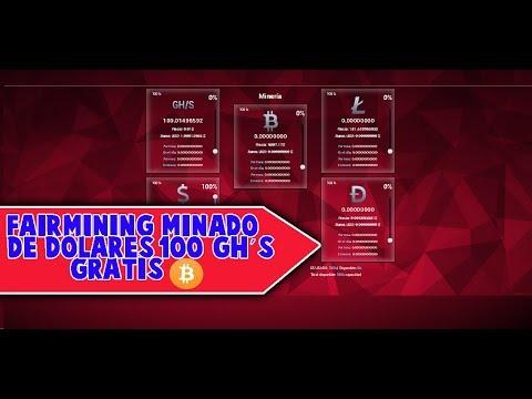 FAIRMINING l Mineria de Bitcoins y Dolares a Payeer en la nube 100 G/HS Gratis