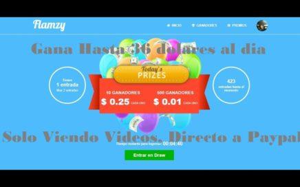 Flamzy !! Gana Hasta $36 al Dia Para Paypal o a Cuenta Bancaria Solo por Ver Vídeos !!