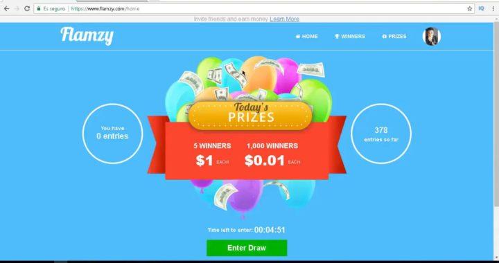 Gana 1$ diario en  Flamzy +  truco para doblar entradas ( 13 ABRIL 2018 )