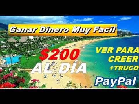 """Gana $200 Dolares Al """"DÍA"""" + TRUCO   VER PARA CREER   Por PayPal"""