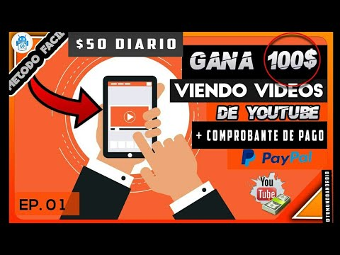 Gana $50 dólares Diario Viendo Vídeos de Youtube / Nueva Página+Comprobante de Pago/Tu Mundo Android