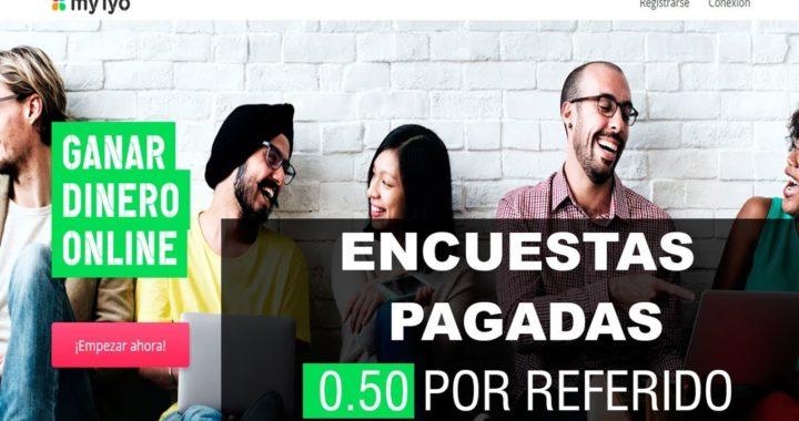 GANA DINERO A PAYPAL CON ENCUESTAS PAGADAS MYIYO 0.50 POR CADA REFERIDO