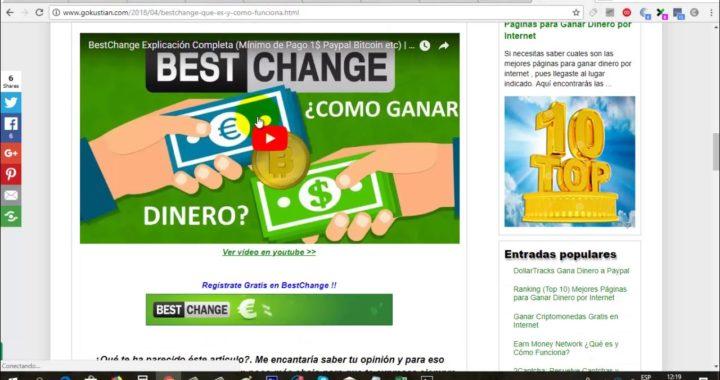 Gana Dinero Gratis Fácil y Rápido a Paypal (Mínimo de Pago 1$) | BestChange Paga 2018 | Gokustian