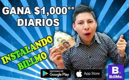 Gana gratis 1000 pesos con la App Billmo