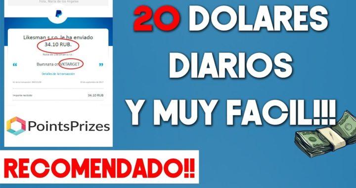 Ganar 50 Dolares Diarios!! Fácil & Rápido Con PointsPrizes | 2018