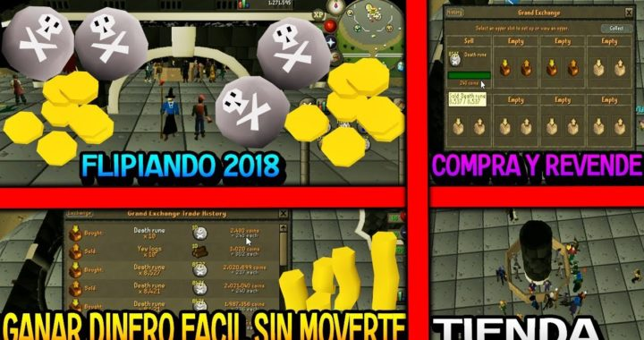 [GANAR DINERO COMPRANDO A MENOR VALOR Y VENDIENDO A MAYOR VALOR EN RUNESCAPE OLD SCHOOL]