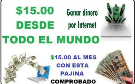 GANAR DINERO POR INTERNET DESDE TODO EL MUNDO CON ESTA PAGINA 100% COMPROBADO
