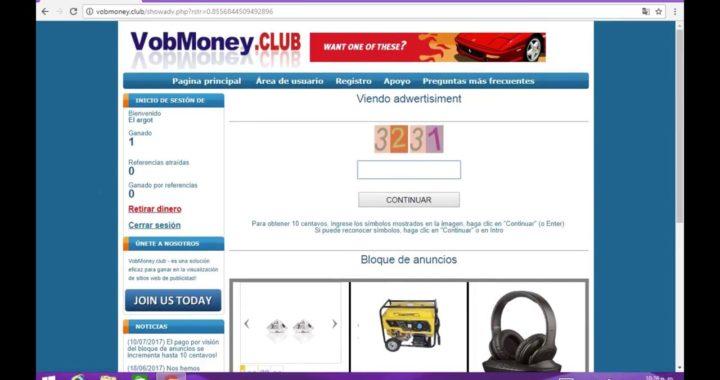 Ganar dinero rapido VobMoney  $1 dolar 1 minuto (GANARLE UNA AL GOBIERNO).
