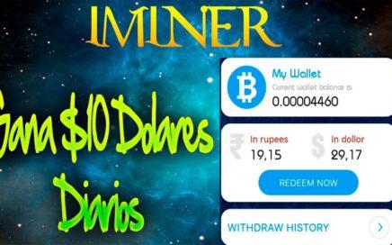 IMINER | Gana Bitcoin y Dinero Por Paypal desde Tu Celular Android (Nueva APP)