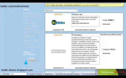 Kiclicks Tutorial Gana Dinero(Euros) por internet