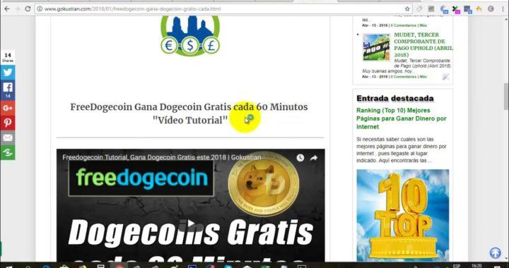 La mejor página para ganar Dogecoin Gratis | FreeDogecoin Pago actualizado Abril 2018 | Gokustian