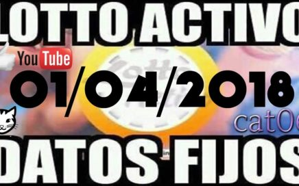 LOTTO ACTIVO DATOS FIJOS PARA GANAR  01/04/2018 cat06